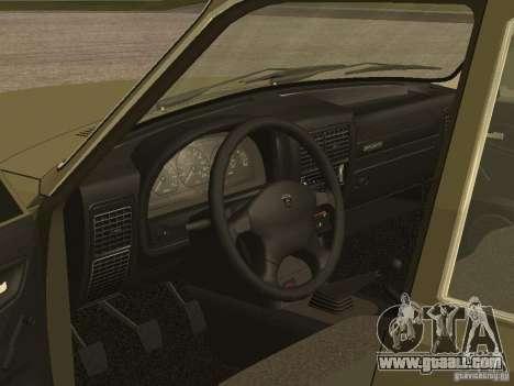 GAZ 3110 v 1 for GTA San Andreas back view