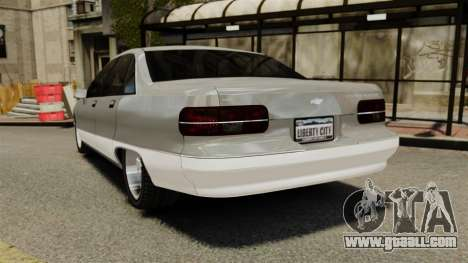 Chevrolet Caprice 1991 for GTA 4 back left view