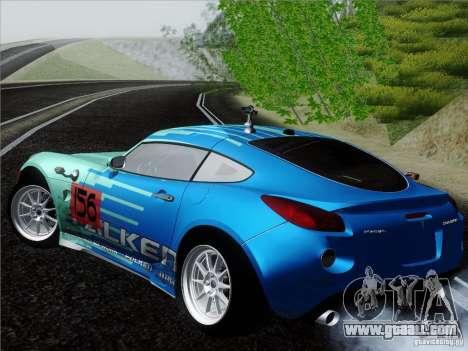 Pontiac Solstice Falken Tire for GTA San Andreas back left view