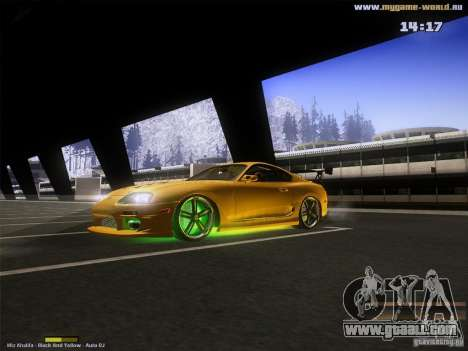 Toyota Supra v2 (MyGame Drift Team) for GTA San Andreas left view