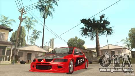 Mitsubishi Evo 8 Tuned for GTA San Andreas