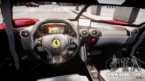 Ferrari FXX for GTA 4 inner view