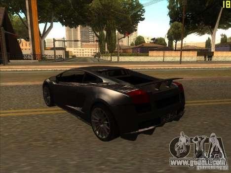 Lamborghini Gallardo Superleggera 2006 for GTA San Andreas right view