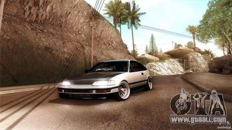 Honda CRX JDM for GTA San Andreas back left view