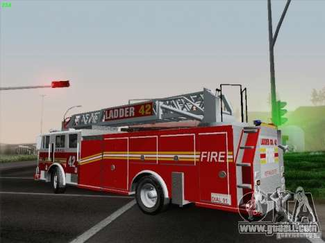 Seagrave Ladder 42 for GTA San Andreas side view