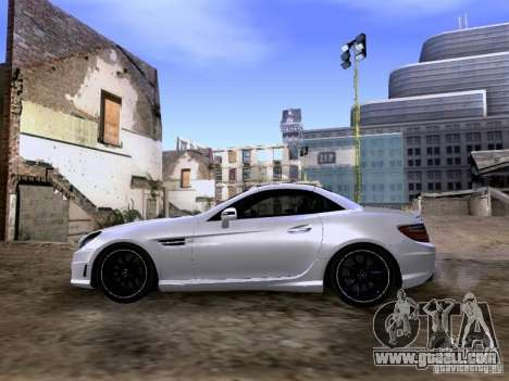 Mercedes-Benz SLK55 AMG 2012 for GTA San Andreas back view