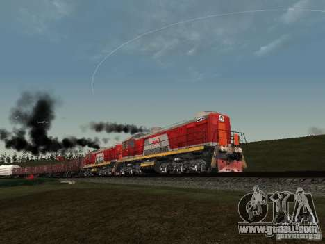 Tem2-6883 RZD for GTA San Andreas side view