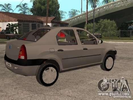 Dacia Logan 1.6 for GTA San Andreas inner view