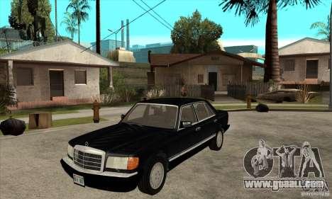 Mercedes Benz W126 560 v1.1 for GTA San Andreas