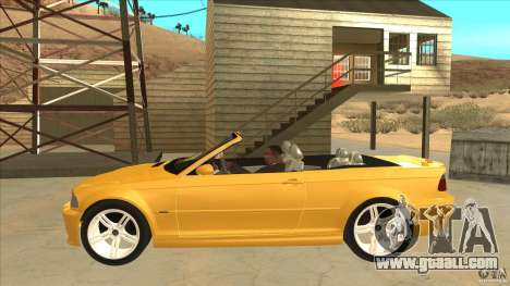 BMW E46 M3 Cabrio for GTA San Andreas left view