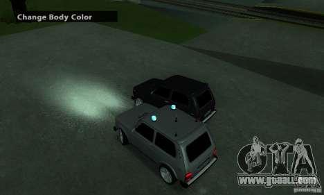 VAZ 21213 NIVA FBI for GTA San Andreas back left view