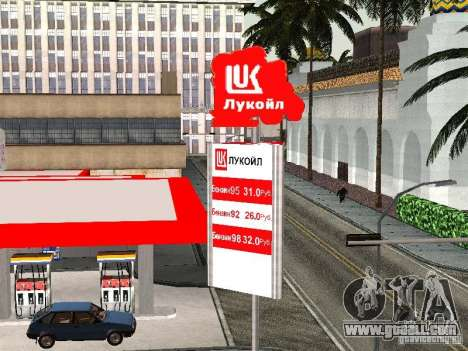 The Lukoil Gas Station for GTA San Andreas third screenshot