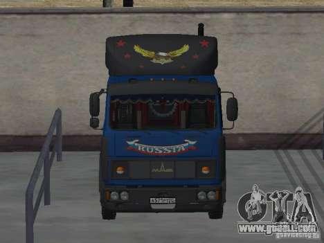 MAZ 5432 YAMZ-238b 4 x 2 for GTA San Andreas back view