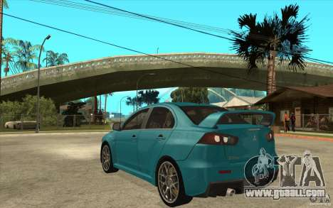 Mitsubishi Lancer Evo 2010 for GTA San Andreas back left view