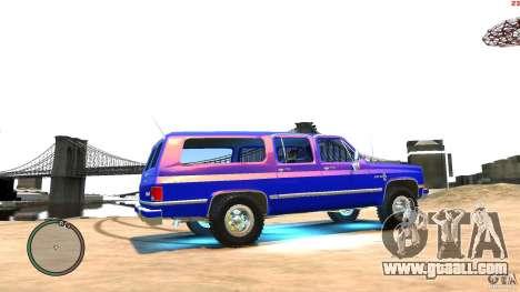 Chevrolet Suburban 1986 for GTA 4 back view