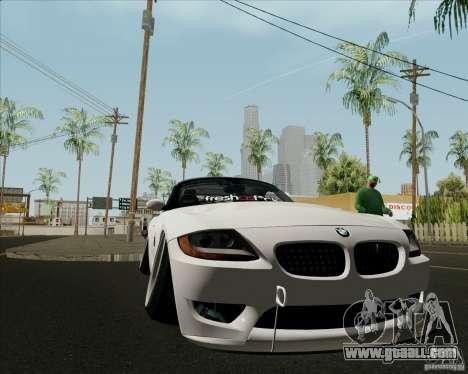 BMW Z4 Hellaflush for GTA San Andreas inner view