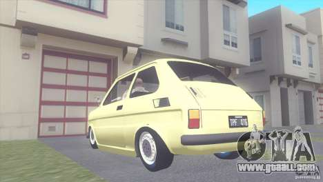Fiat 126 for GTA San Andreas left view