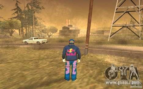 Red Bull Clothes v1.0 for GTA San Andreas forth screenshot