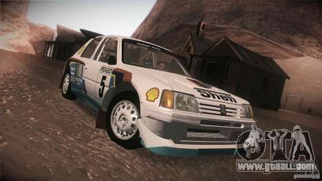 Peugeot 205 T16 for GTA San Andreas side view