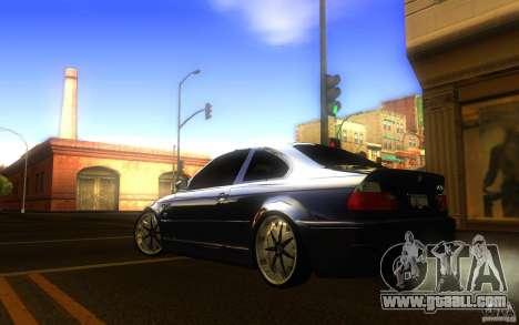 BMW M3 E46 V.I.P for GTA San Andreas back left view