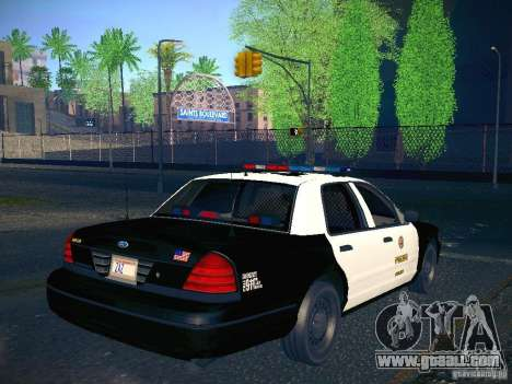 Ford Crown Victoria Police Intercopter for GTA San Andreas left view
