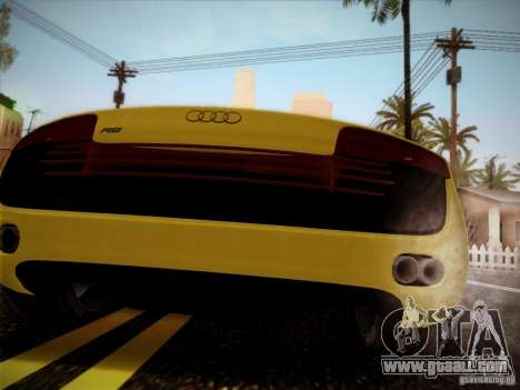 Audi R8 custom for GTA San Andreas left view