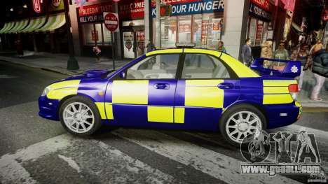 Subaru Impreza WRX Police [ELS] for GTA 4 left view