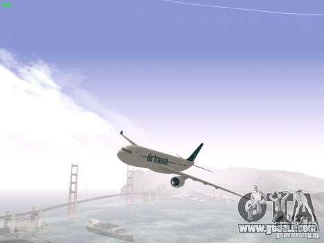 Airbus A330-200 Air Transat for GTA San Andreas
