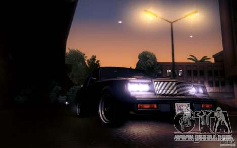 Buick Regal GNX for GTA San Andreas inner view