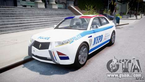 Carbon Motors E7 Concept Interceptor NYPD [ELS] for GTA 4 back view
