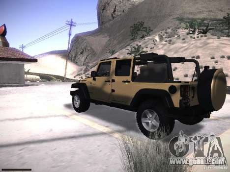 Jeep Wrangler Rubicon Unlimited 2012 for GTA San Andreas left view