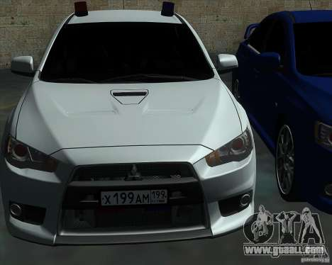 Mitsubishi Lancer Evolution X MR1 v2.0 for GTA San Andreas side view