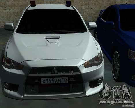 Mitsubishi Lancer Evolution X MR1 v2.0 for GTA San Andreas side view