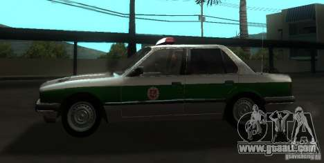 BMW E30 Sedan Police for GTA San Andreas left view