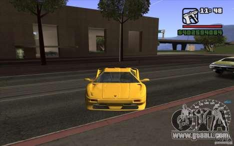 Lamborghini Diablo SV for GTA San Andreas left view