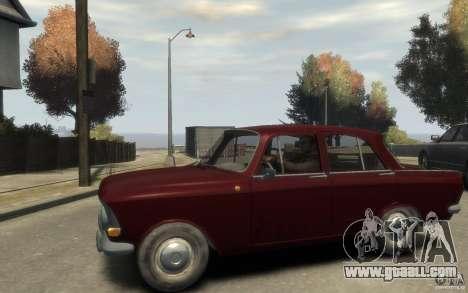 AZLK 412 Moskvich for GTA 4 left view
