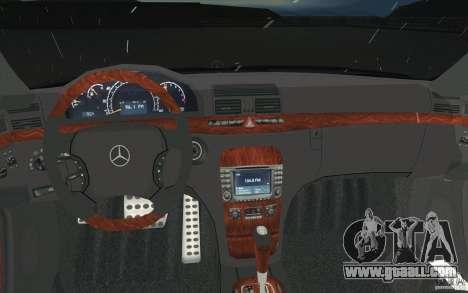Mercedes-Benz S-Klasse for GTA San Andreas upper view
