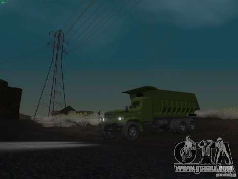 KrAZ-256b1-030 for GTA San Andreas bottom view