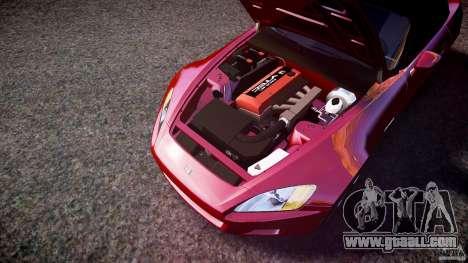 Honda S2000 2002 v2 for annealing for GTA 4 bottom view