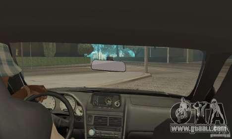 Nissan Skyline R-34 GTR for GTA San Andreas inner view