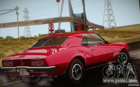 Pontiac Firebird 400 (2337) 1968 for GTA San Andreas bottom view