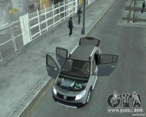 Renault Sandero v2.0 for GTA 4 inner view