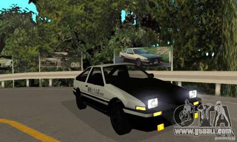 Toyota Sprinter Trueno GT-APEX AE86 83 Initial D for GTA San Andreas left view