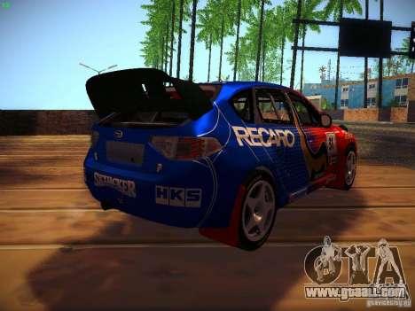 Subaru Impreza WRX STi N14 Rallycross for GTA San Andreas inner view