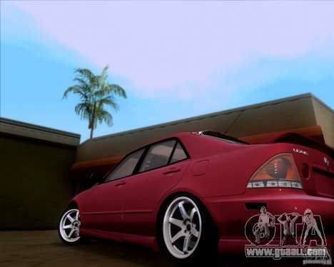 Lexus IS300 Hella Flush for GTA San Andreas back left view