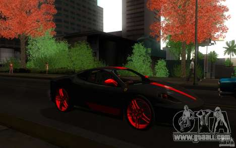 Ferrari F430 for GTA San Andreas back view