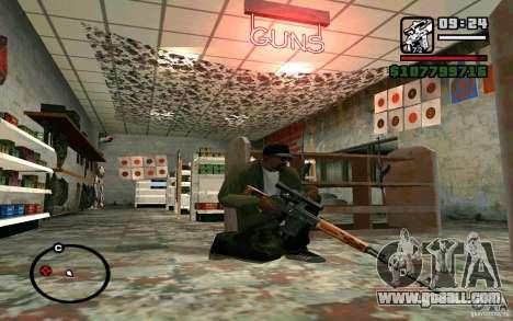 Dragunov sniper rifle v 1.0 for GTA San Andreas third screenshot