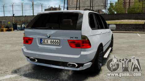 BMW X5 4.8IS BAKU for GTA 4 back left view