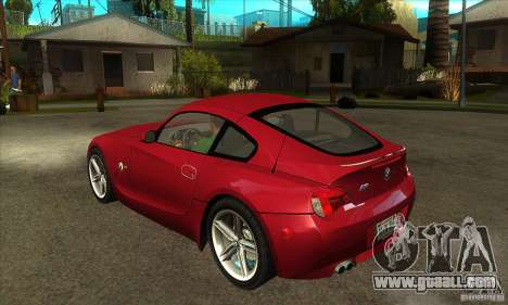 BMW Z4 - Stock for GTA San Andreas back left view