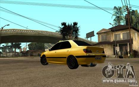 Peugeot 406 Taxi for GTA San Andreas back left view